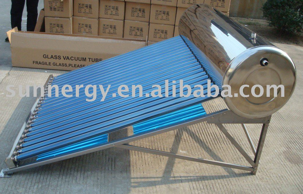 Solar water heating tube well system
