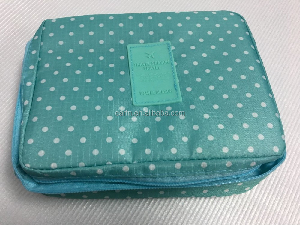 Cloth Sublimation Cosmetic Bag High Capacity Make up Hanging Cosmetic travel receive air Oxford Bag with zipper ownlogo forwomen