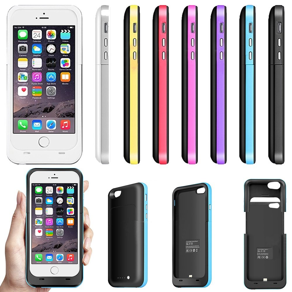 Wholesale 3800mAh 2 in 1 Plastic Power Bank External Backup Battery Charger Case for iPhone 6 4.7""