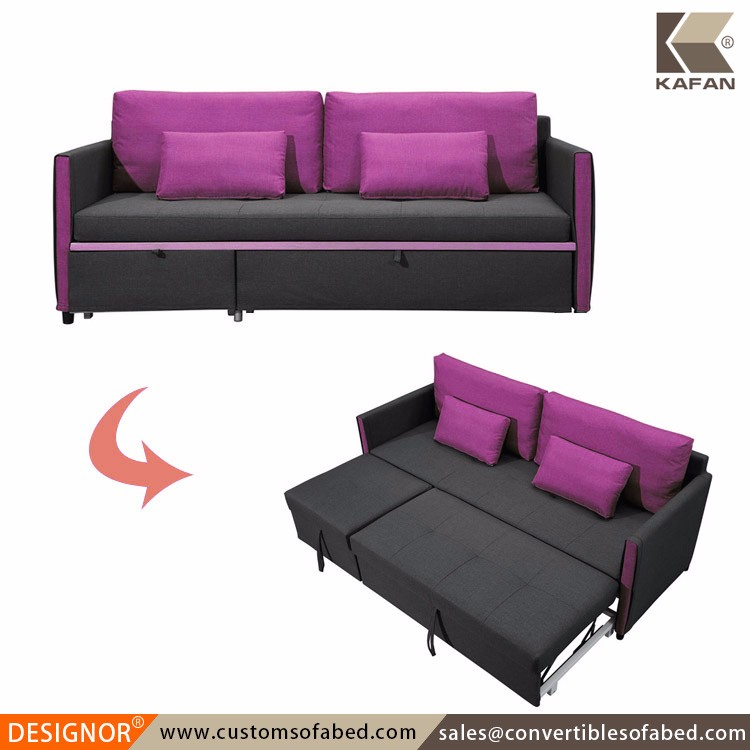 Convertible wooden frame fabric daybed for Barcelona