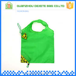 2015 Folding plyester green tote wholesale cheap shopping bag