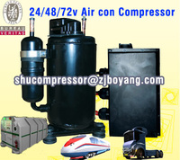 Compressor Type 24/48v dc air conditioner compressor for Hybrid DC Inverter Solar Air Conditioner 9000BTU-36000BTU