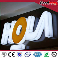 wholesale promotion LED Acrylic Luminous Character/Signage/Letter