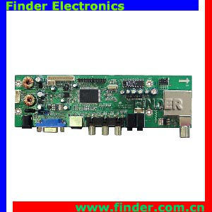 support dual/single LVDS LCD panel lcd tv control board