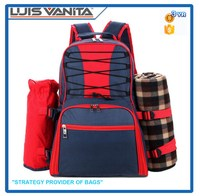 Durable Picnic Big Red Backpack Cooler Bag