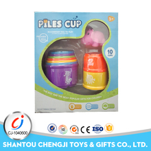 China wholesale plastic educational baby stacking cups toy