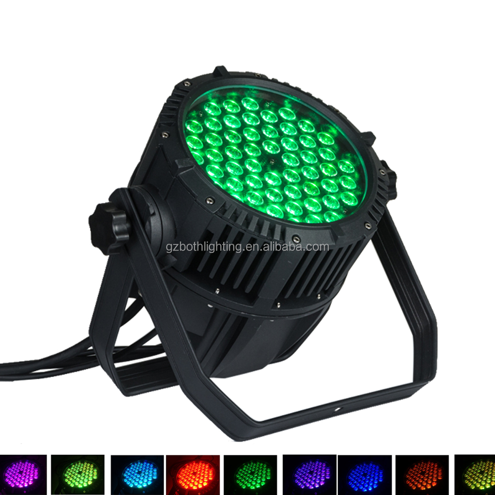 High quality 54x3w rgb LED Par Light Waterproof IP65 DJ outdoor LED Stage Lights