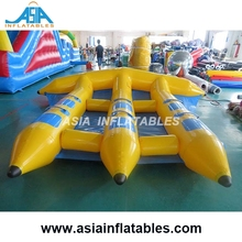 Flying Towables Tube Water Toys / Inflatable Flying Fish Banana Boat For Water Sports