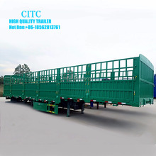 CITC fence stake semi trailer horse transportation with high quality side panel of livestock trailer