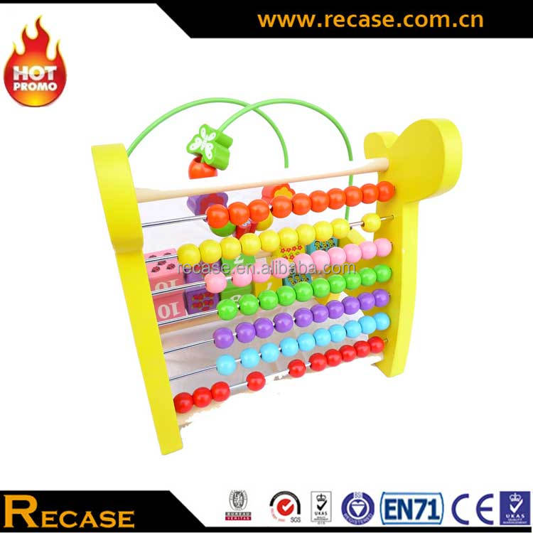 Custom Made Wooden Beads Maze Toy For Kids New Gift Item Kids Preschool Educational Game Toys Giraffe Design