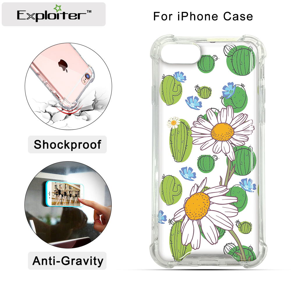 For Apple for iphone8 7 plus 6S plus silicone coloured drawing case landscape Plating TPU cell phone cases