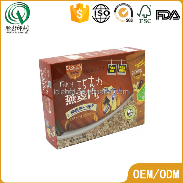 spot color printing snacks packing box paper packing box for food packaging