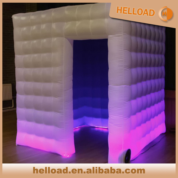 colorful changing inflatable photo booth, trade show display booth wholesale