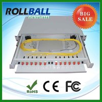 Low cost optical fiber patch panel 24 port