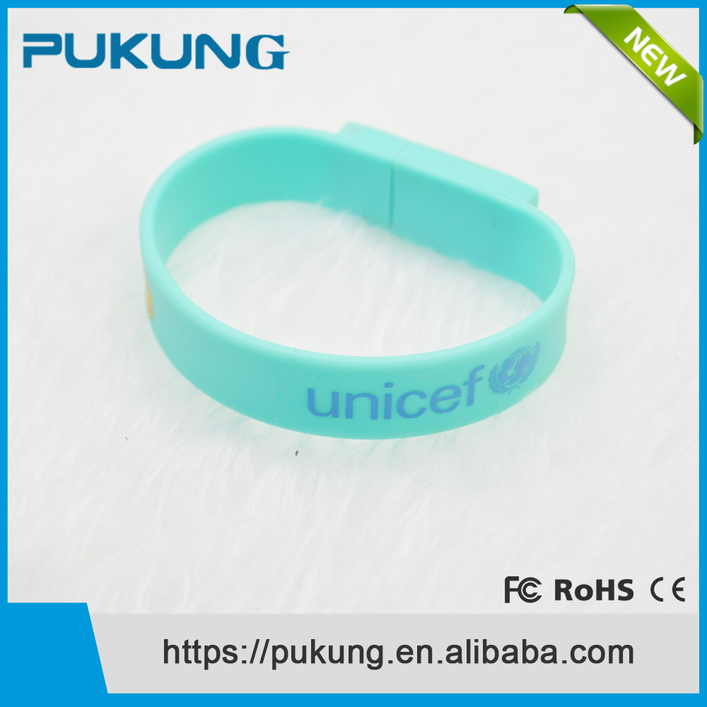 Updated Cheapest Silicone Wrist Band Bracelet USB 2.0 Flash Drive Pen Drive Memory Stick Thumb Drive 1GB 2GB 4GB