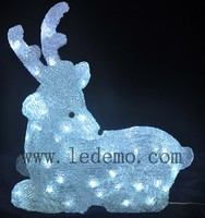 2015 NEW Ourdoo and indoor merry christmas words decoration Acrylic material Deer led Motif Light