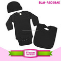 Soft cotton long sleeve black baby romper carters set toddler clothes carters 3 piece set
