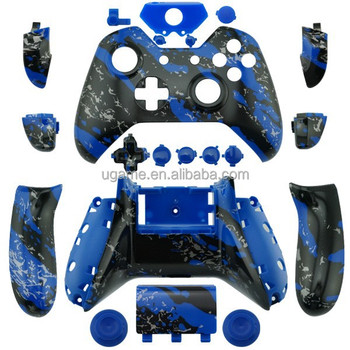 For Xbox One Custom Hydro Dipped Blue Splatter Controller Shell Parts