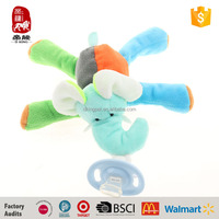 wholesale custom baby toys supplies plush Pacifier clip OEM