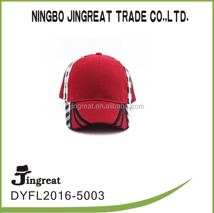 Red Unique Design Racing Flame 100%cotton puff embroidery Baseball Cap