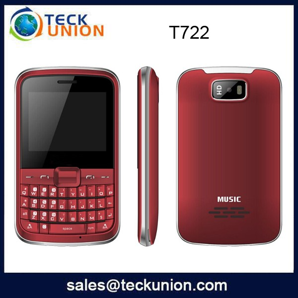 T722 2.4 inch quad bands best cheapest qwerty keyboard mobile phone