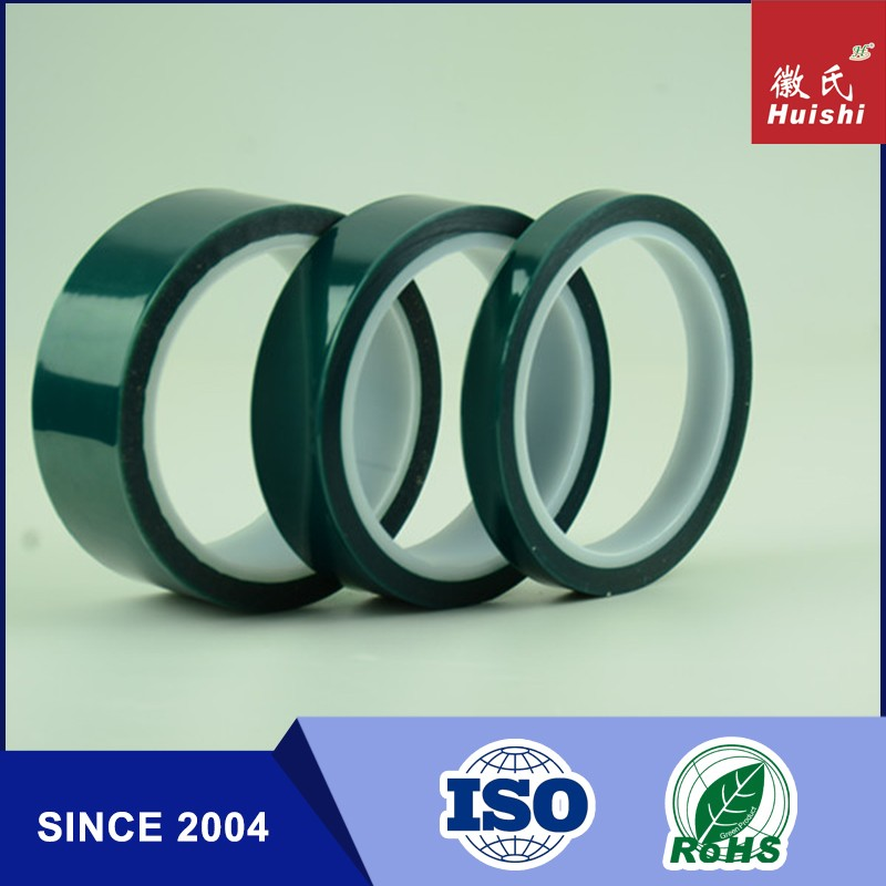 ISO9001&14001 Certified Silicone Adhesive Single Coated Green PET Film Tape For Powder Coating Tape