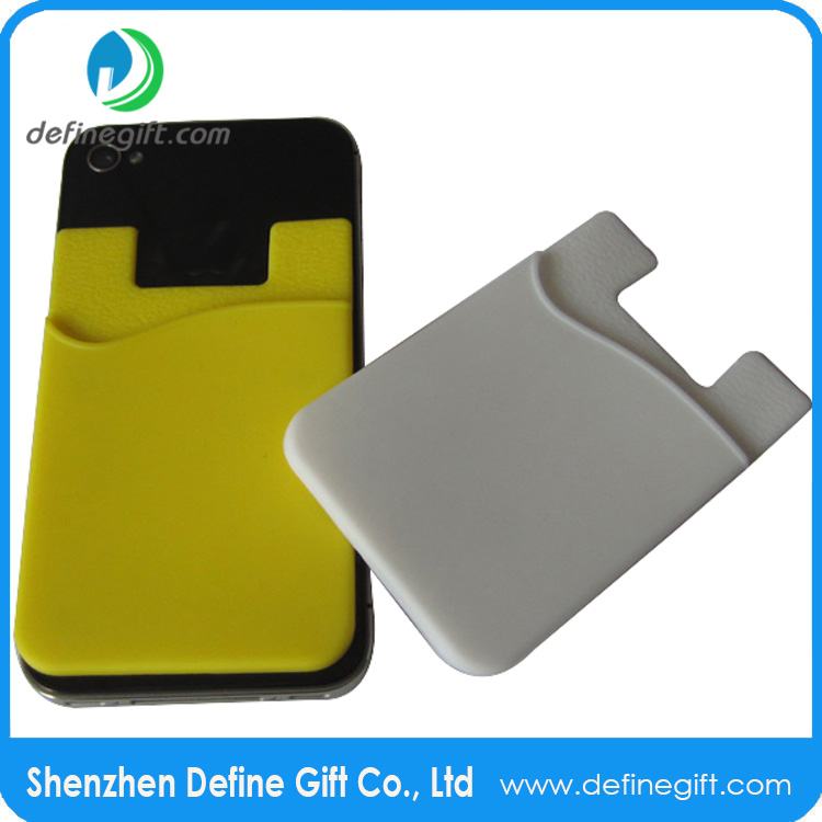 Silicone Smart Card Holder 3m Sticky Phone Case Card Wallet