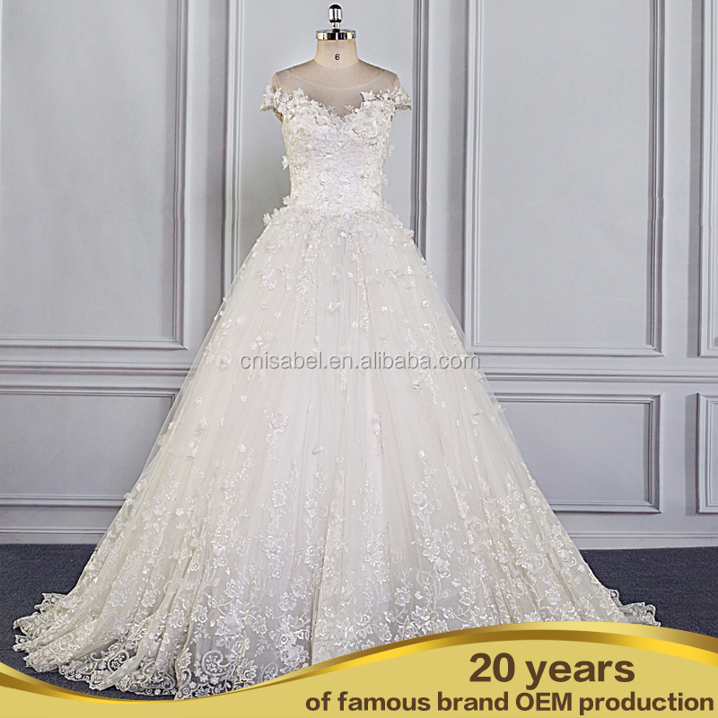 SW16620 hot selling lace appliqued wedding dress bridal wear country western wedding dress