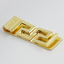 wholesale custom logo 18k gold plated blank stainless steel metal money clip