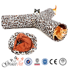 [Grace Pet] Leopard print 3-way cat tunnel outdoor