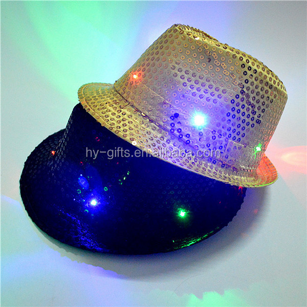 hot sale sport plain 6 panel led cap adjustable led cap light