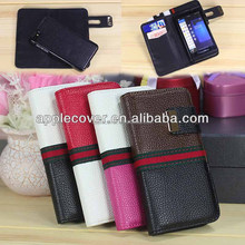 Detachable Card Holder Stand Leather Wallet Case for Blackberry Z10 , for Blackberry Z10 case