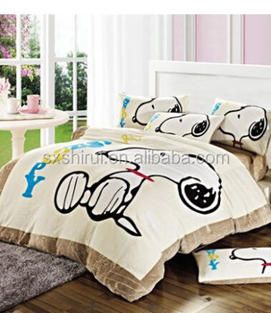 2015 New 100% polyester soft carton flannel fleece blanket