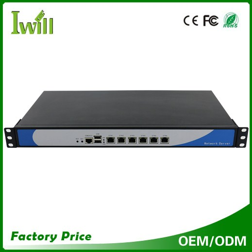 Aluminum NS-1U6L Celeron 1037U dual core barebone 6 lan 1U server for firewall