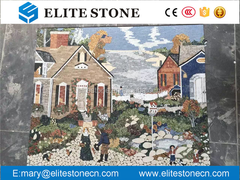 New Design Oil Painting Pattern Mural marble Mosaic Tile