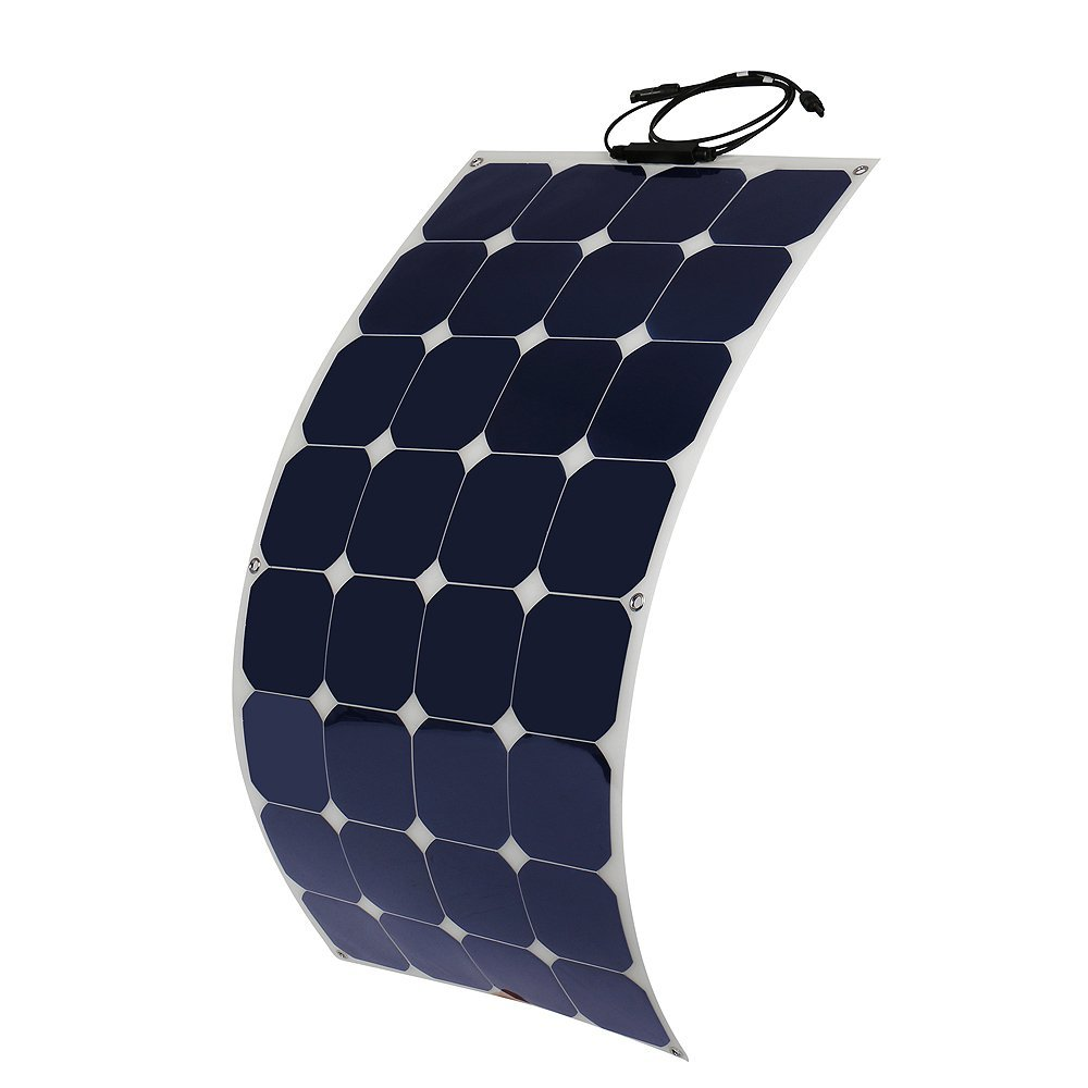 high efficiency flexible monocrystalline solar PV panel for motorhome caravan