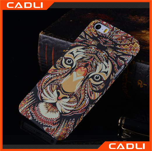 2016 night light case Mobile Phone Case for the king of forest colorful plastic case for iphone5 5S SE