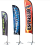 Beach flag feather flag banner with custom design for trade show