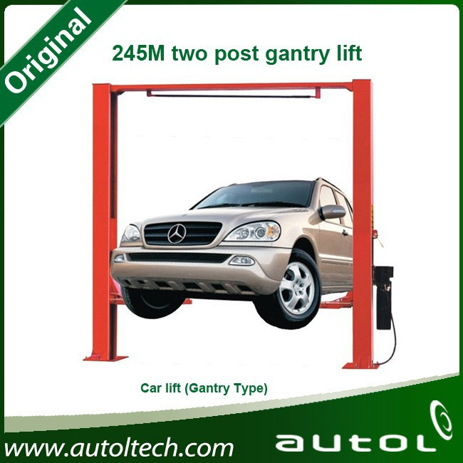 One Cylinder Hydraulic Lift 245M Two Post Lift Gantry Lift for Cars