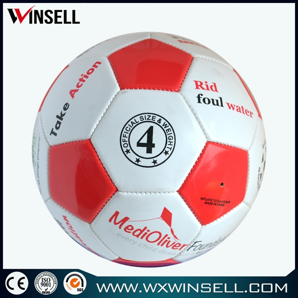 pu tpu pvc material wholesale pvc rubber bladder football with logo size 4