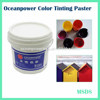 Water based pigment paste / aqueous colored paint / soluble colorant for emulsion & architectural wood paint