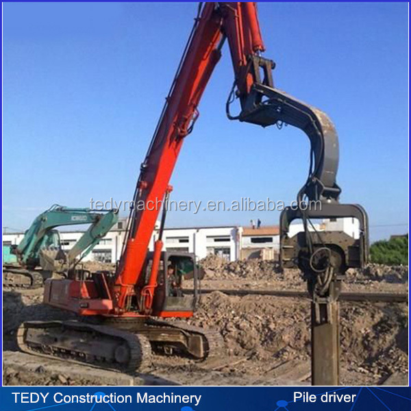 hydraulic guardrail steel sheet pile driver hammer for crane excavator