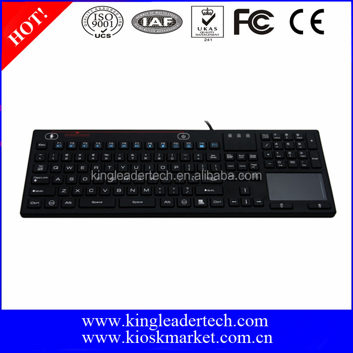 Super Slim washable silicone keyboards with built in touchpad