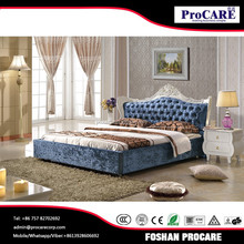 Foshan fashion king size soft bed cheap price