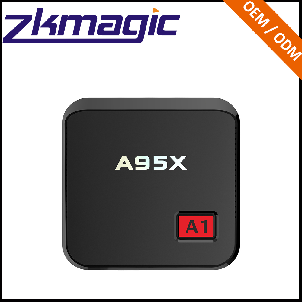 A1 support 2.4G factory price free Amlogic S905X internet searching tv box digital satellite receiver