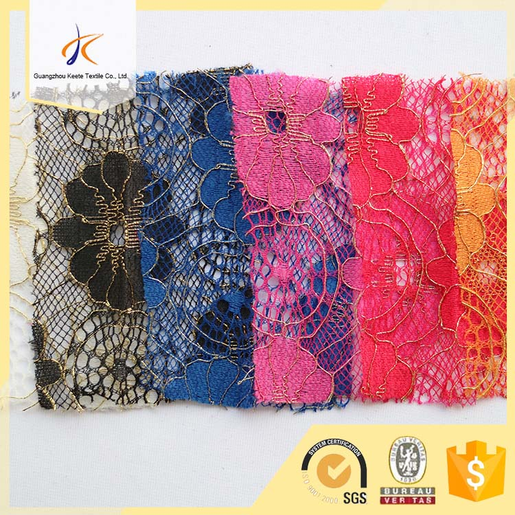 Alibaba China Guangzhou Keete gold cord guipure lace fabric embroidered bridal lace fabric