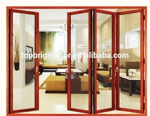 High Quality Security Mesh Screen Bifolding Door with Aluminium Frame