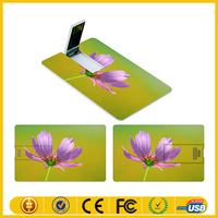 Promotional super thin credit card usb flash drive with 2 side logo print