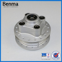 High quality Aluminum motorcycle rear wheel hub with rubber cushion for CG125