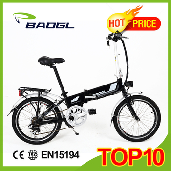 CE EN15194 20inch electric folding Bike lithium battery aluminum frame foldable electric bike battery hidden in frame